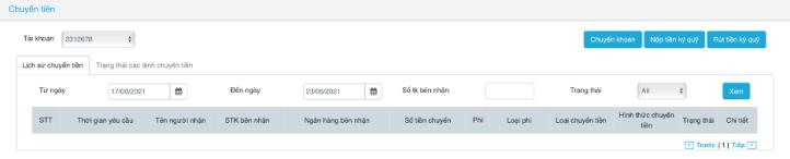 chuyển khoản trực tuyến trên web SmartPro
