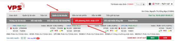 đăng ký smart OTP trên web SmartOne