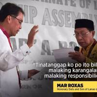 ROXAS SULTANATE HONORARY TITLE AN INSULT TO MUSLIMS
