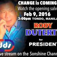 DUTERTE CAMPAIGN IN FULL STEAM