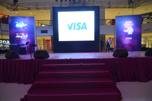 bpi amore launch corporate event - stage decor