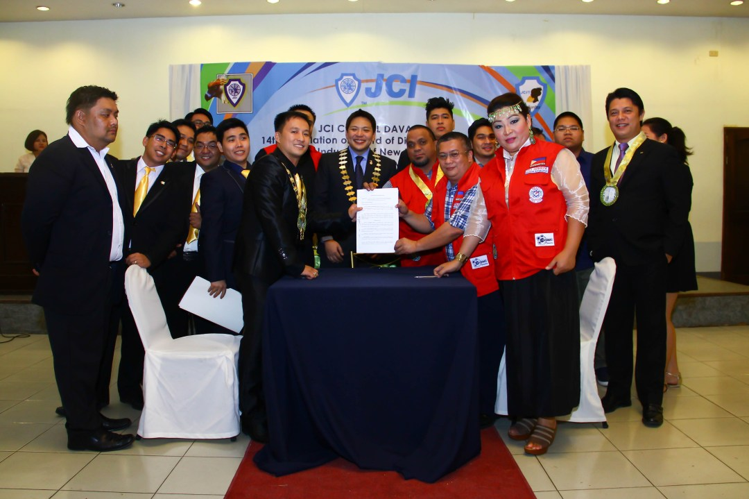 JCI Central Davao signs partnership MOA with REACT Philippines
