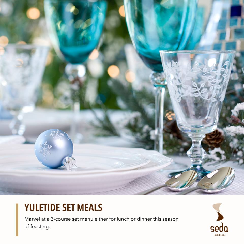 Seda's yuletide set meals start at P880. Perfect for chill family get togethers or for treating your best clients out.
