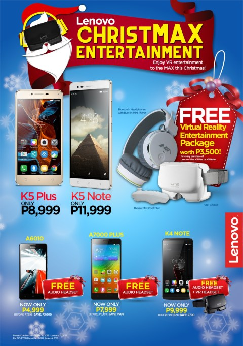 lenovo holiday promo vibe k5 plus and k5 note