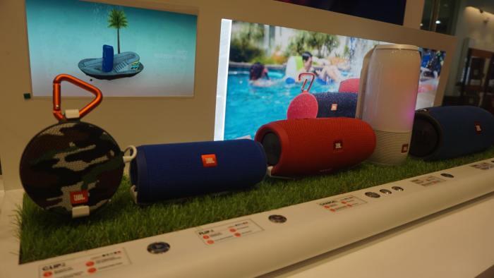 JBL Store speakers