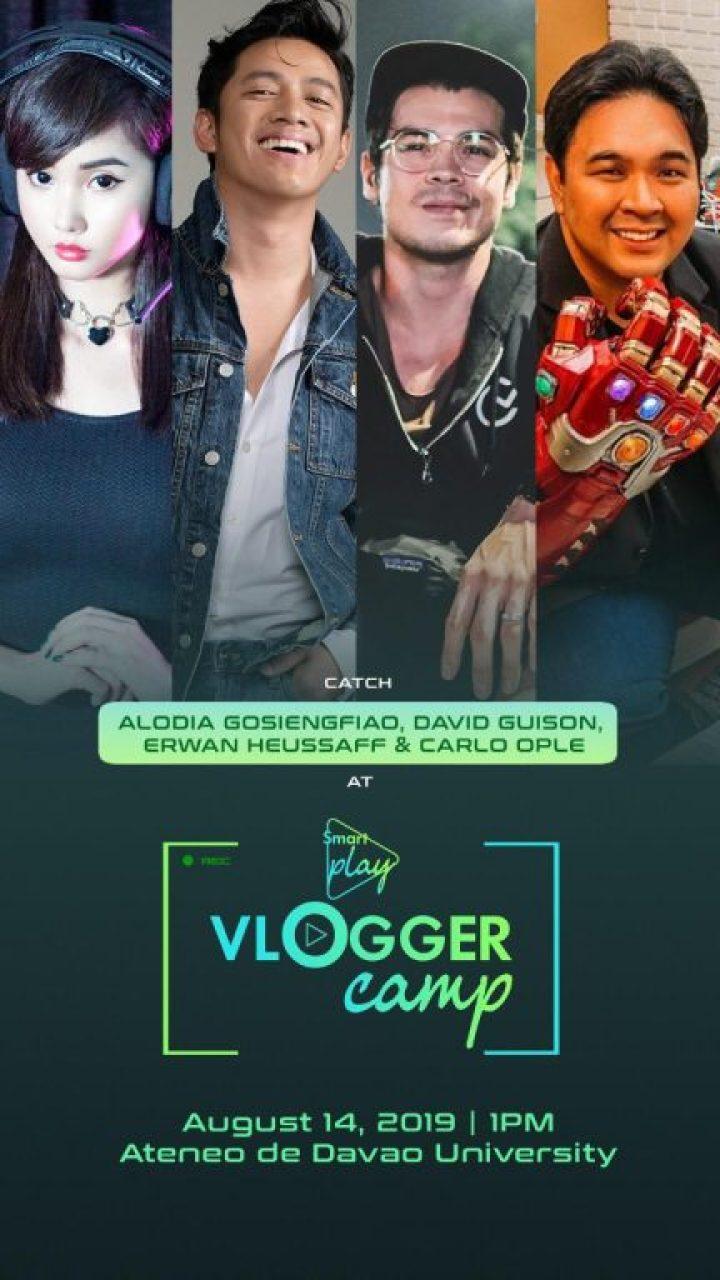 Smart Play Vloggers Camp - Alodia Gosiengfiao, David Guison, Erwan Heussaff, Carlo Ople