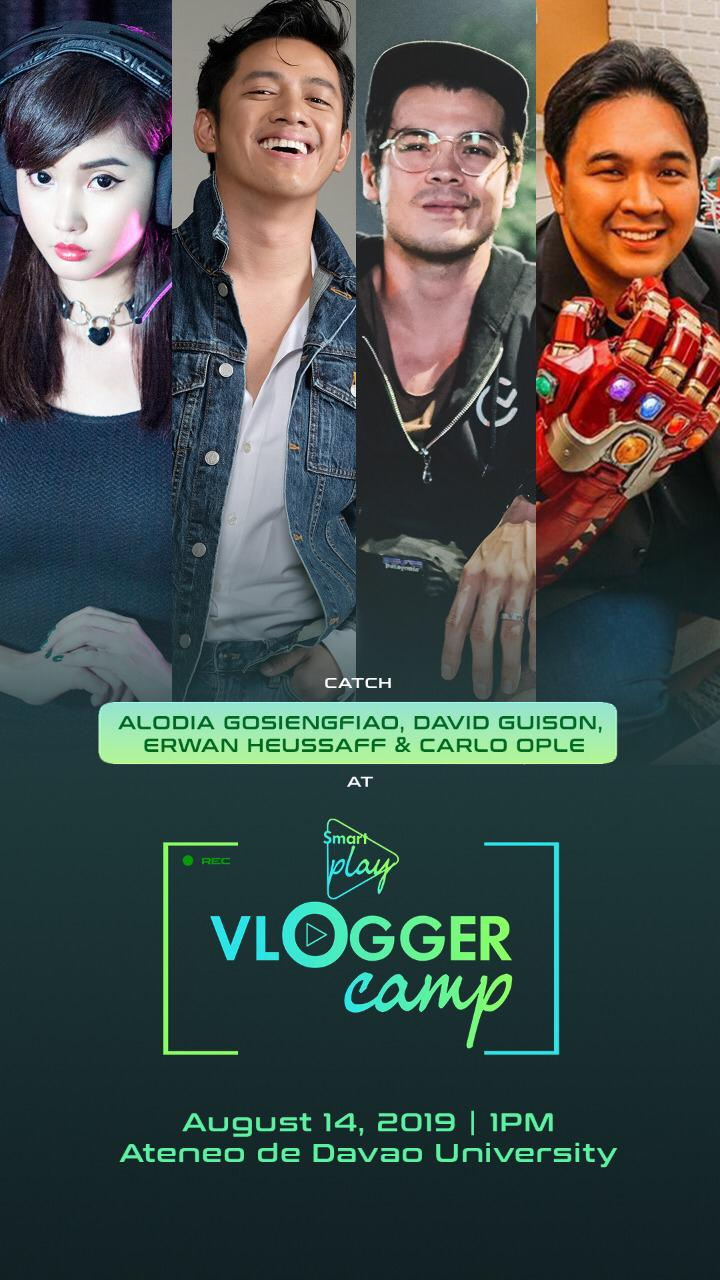 Smart Play Vloggers Camp - Alodia Gosiengfiao, David Guison, Erwan Heussaff, Carlo Ople
