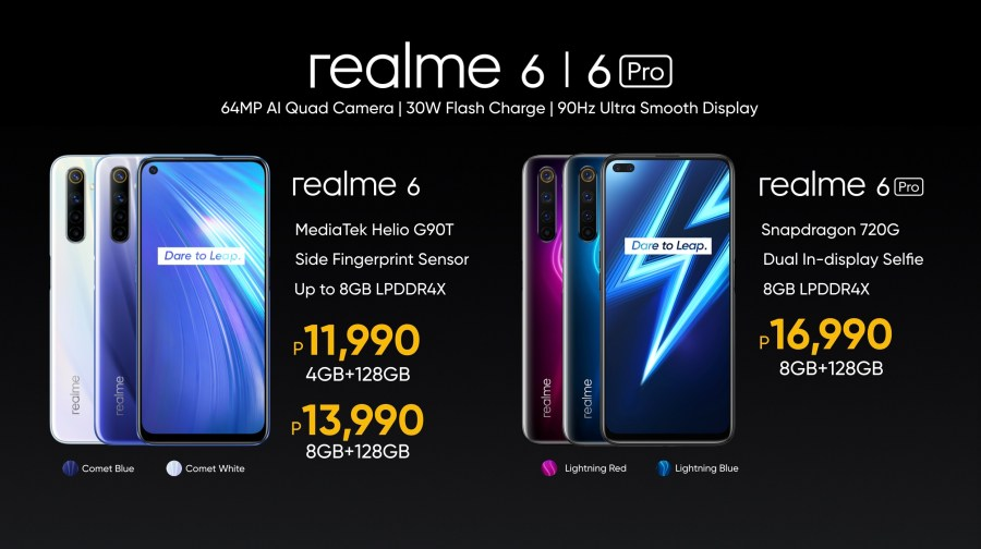 realme 6 and 6 Pro price