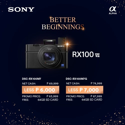 Sony RX100 VII DSC-RX100M7G and DSC-RX100M7 promo