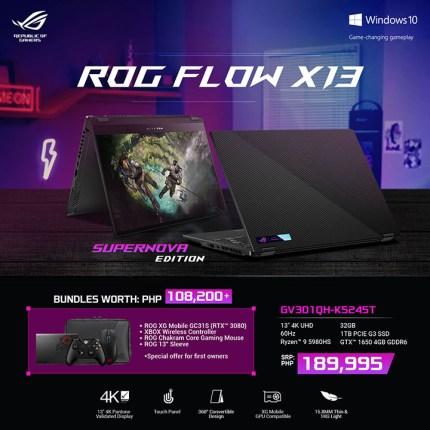 ROG Flow X13 GV301QH-K5245T Supernova Edition bundle