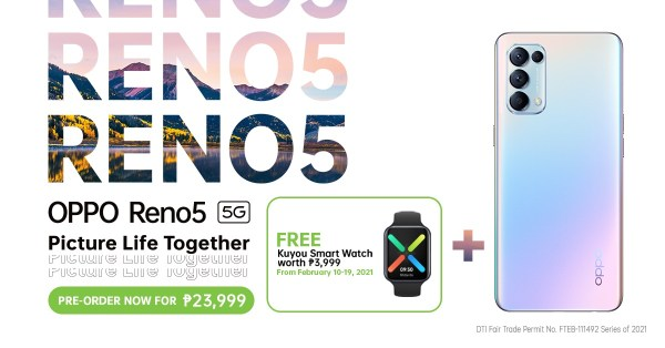Reno5 5G pre-order