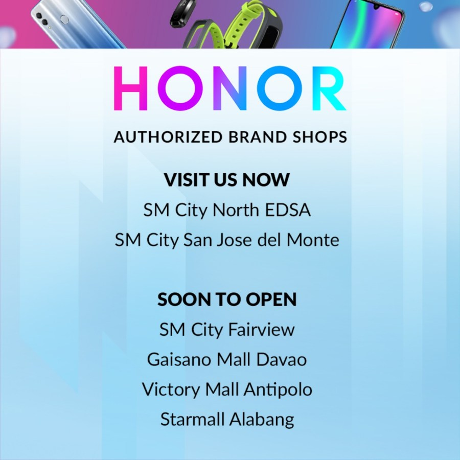 Honor Authorized Brand Shops 2019