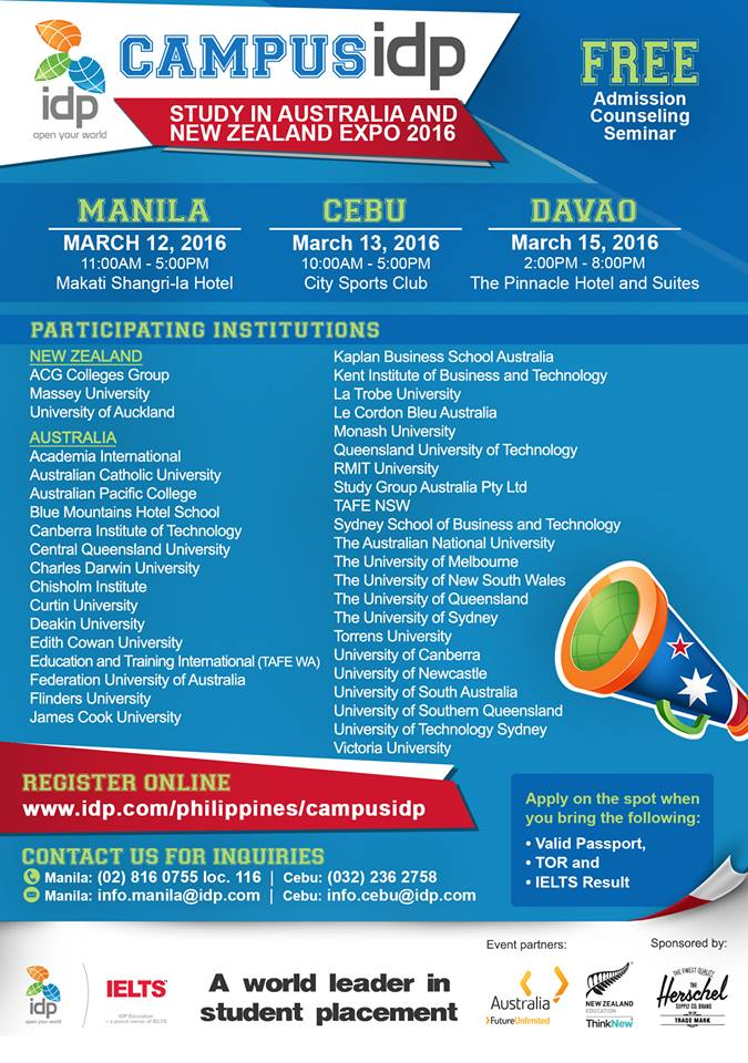 Campus IDP Expo 2016 opens on March 12 | Davao Today