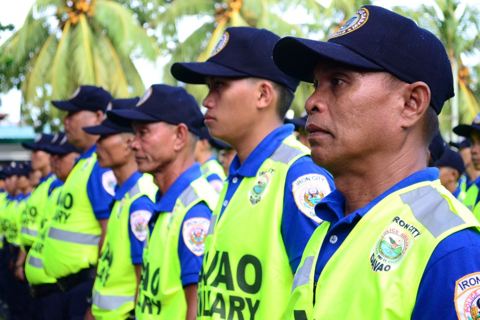 b25952f4 OPLAN IRON CITY. Volunteer Auxiliary Police Officers line up during their  graduation ceremony at the Davao City Police Office grounds on Monday, May  22, ...