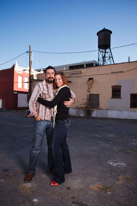 Downtown Salt Lake portraits of the parents