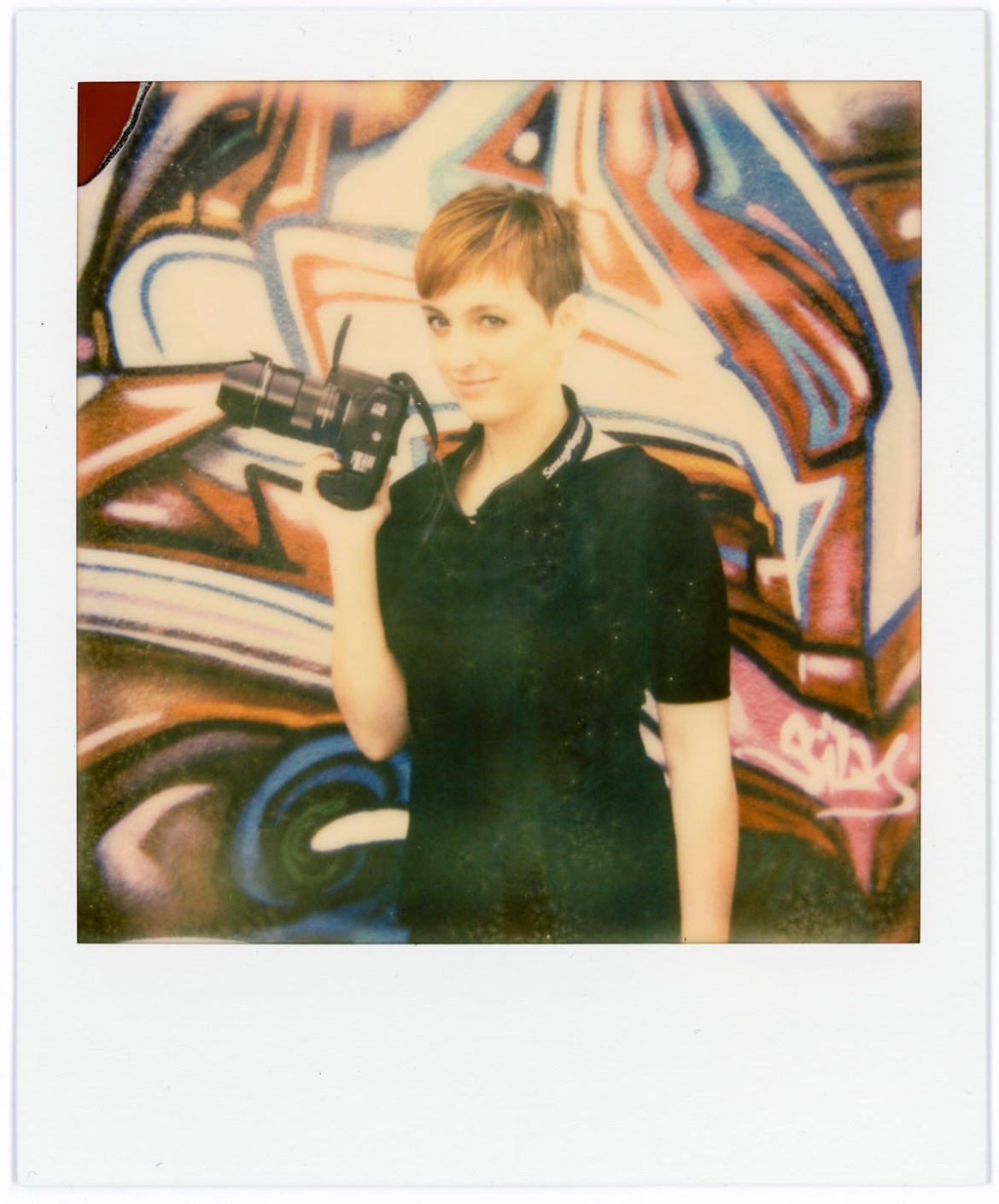 Pamela on Impossible Project Polaroid film