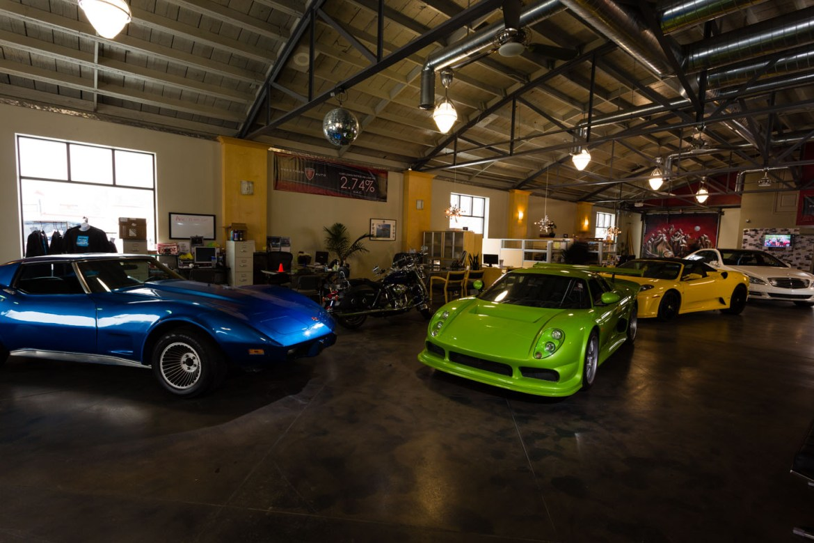 Classic Corvette and a Green Car from Africa
