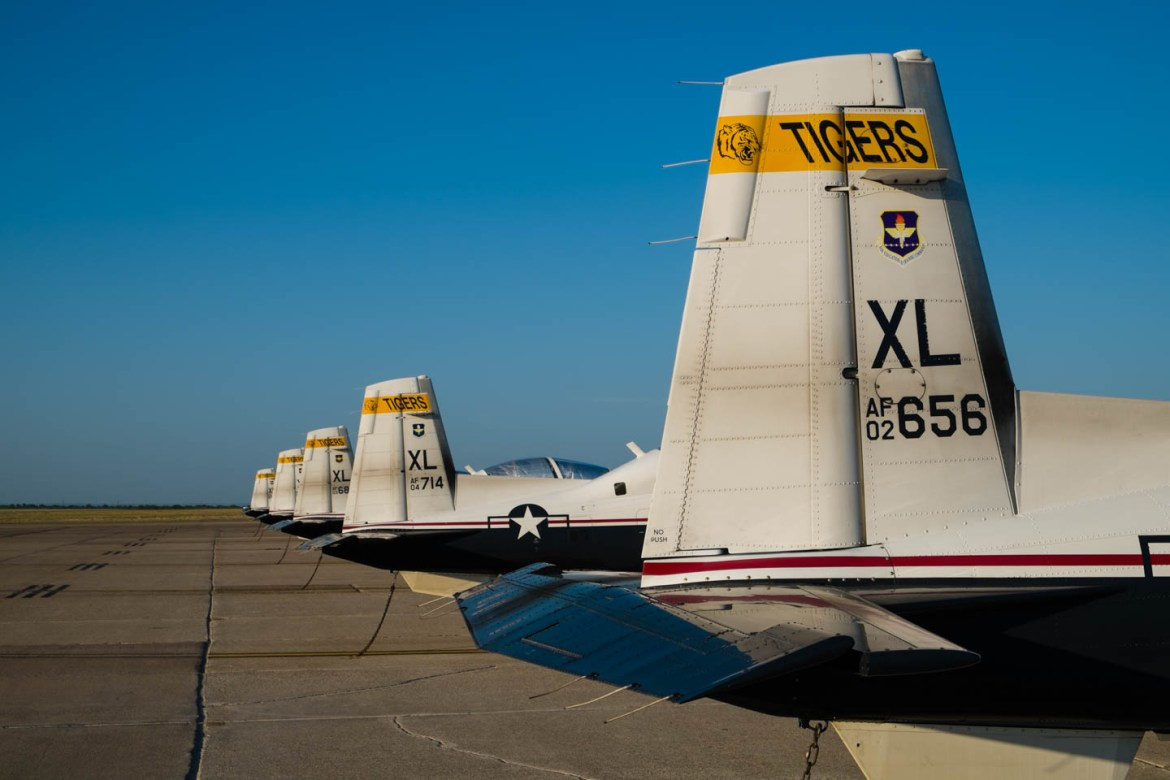 Row of T-6 Airplanes