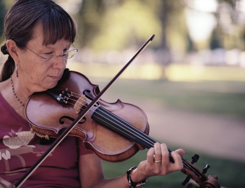 Violinist at Salt Lake Farmers Market