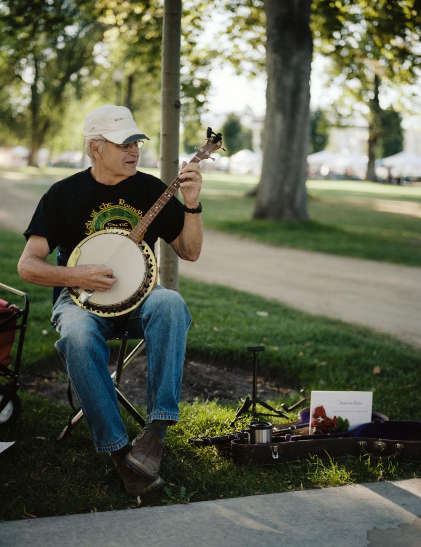 Banjo player at Salt Lake Farmers Market