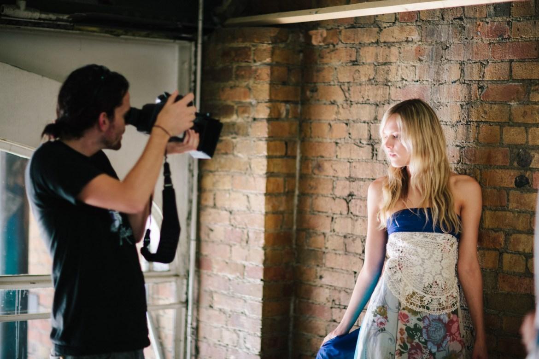Ryan photographs a female model