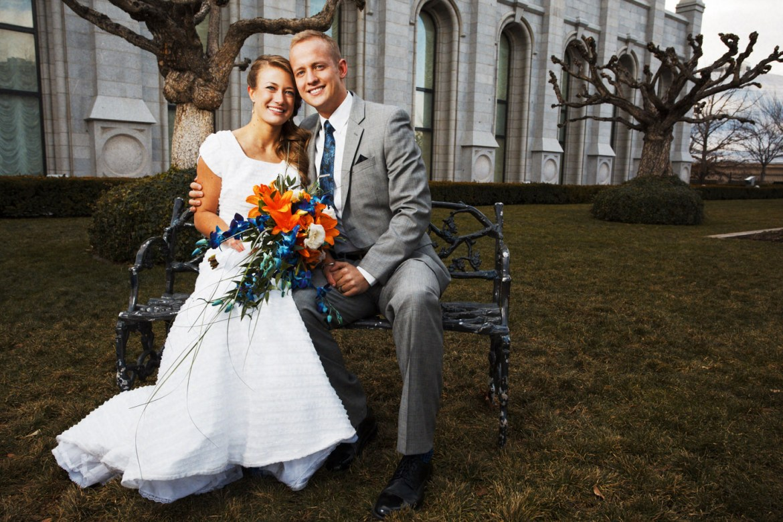 Wedding at the Salt Lake Temple