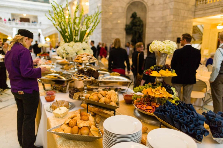 Le Croissant Prepares the Buffet Table for Brunch