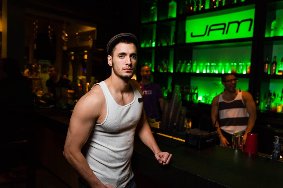 Bartending by night and working out at the gym by day