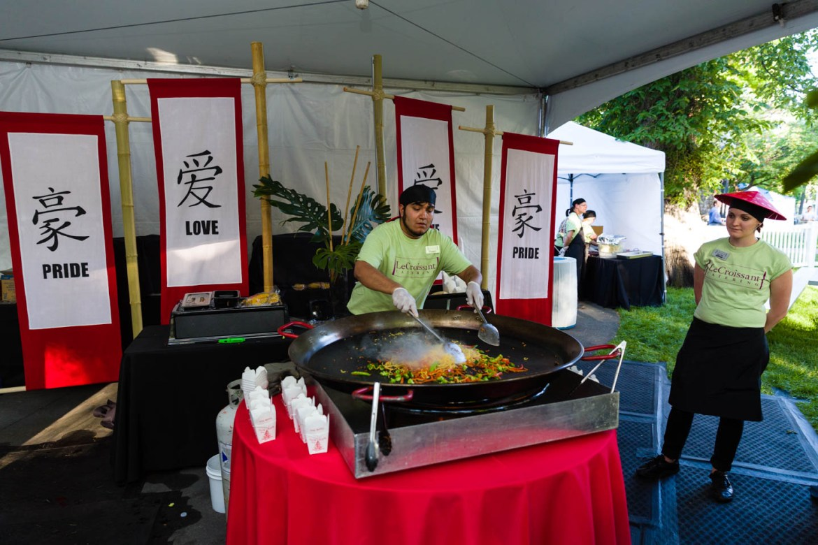 Chinese food prepared by Le Croissant Catering