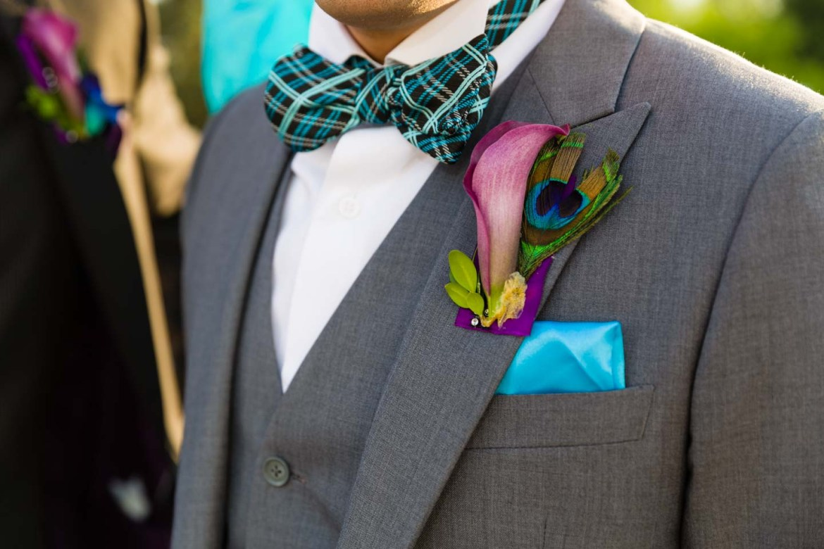 Dave the groom and his boutonniere