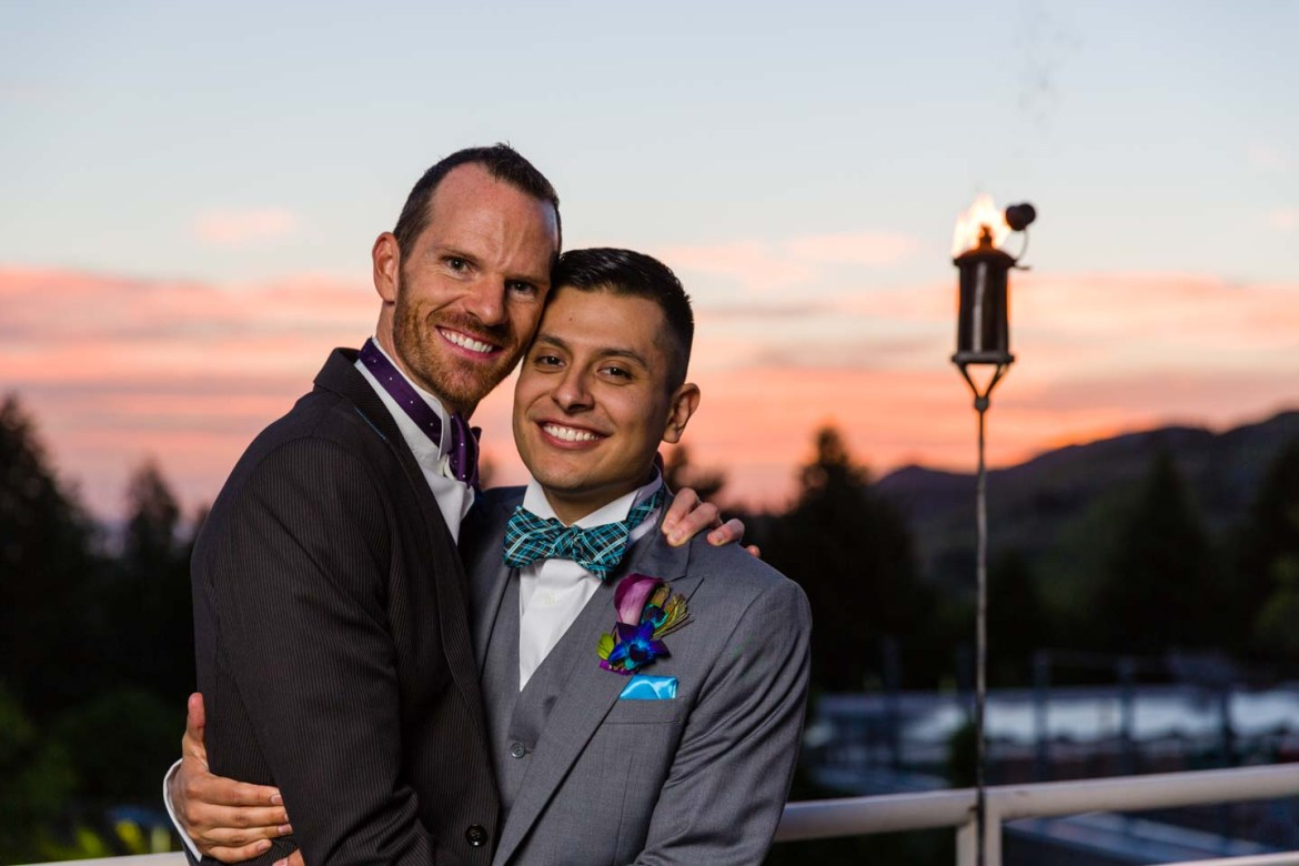 I borrowed the grooms a few times for formal portraits as the sky changed