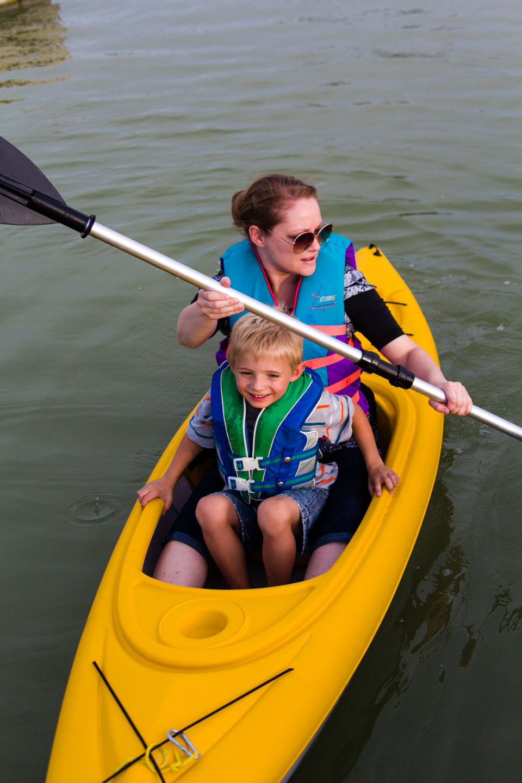 Some chose to go kayaking