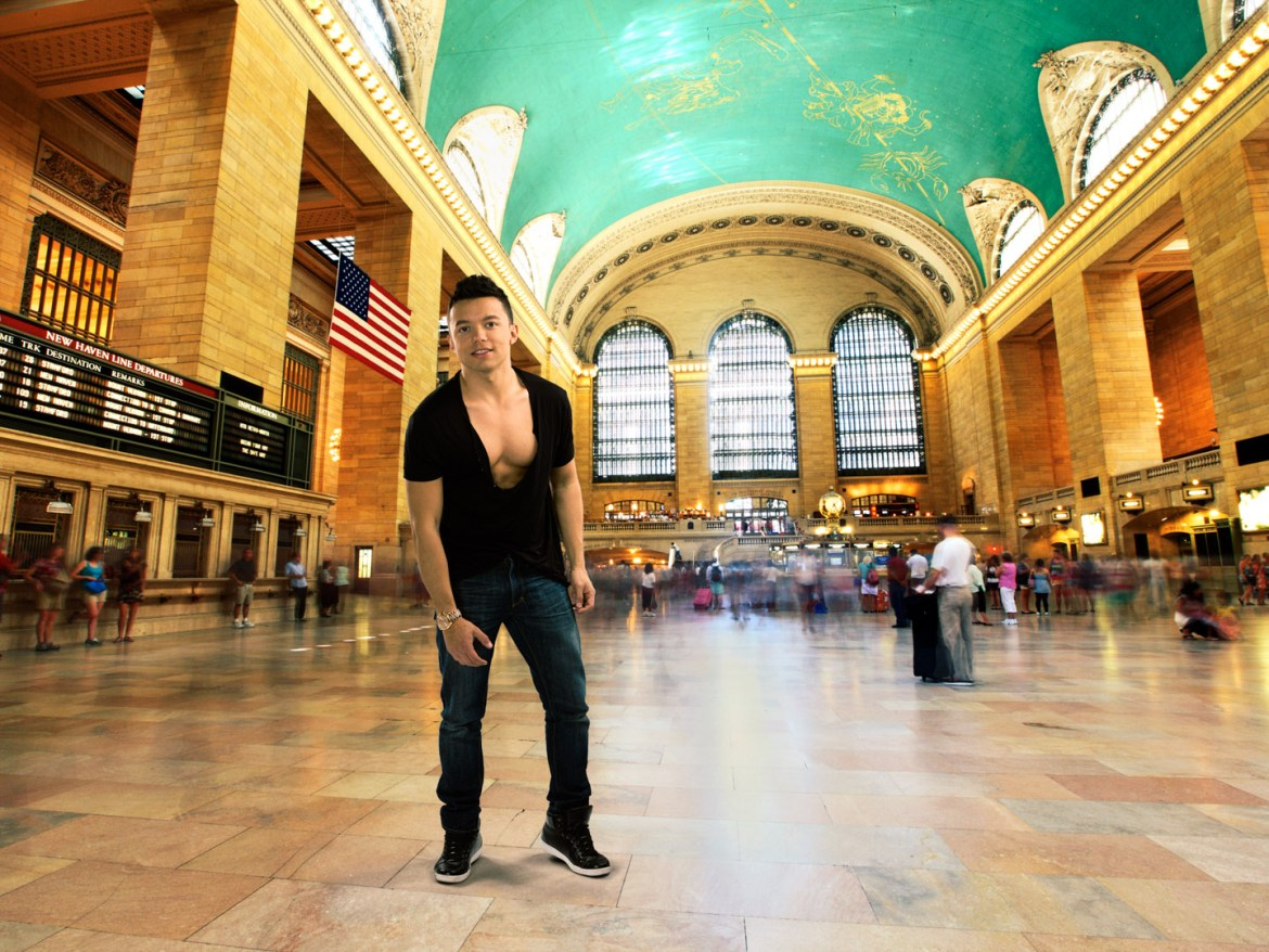 Julio at Grand Central Station in New York