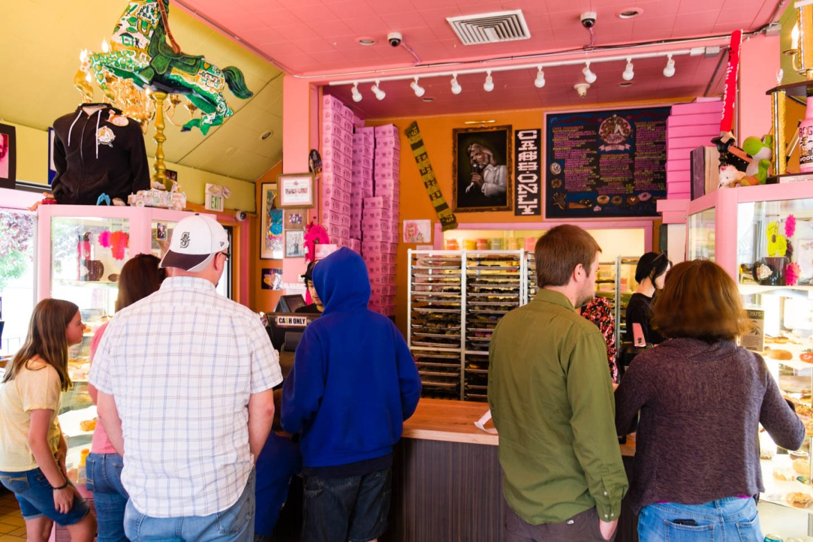 VooDoo donuts is a shopping experience.