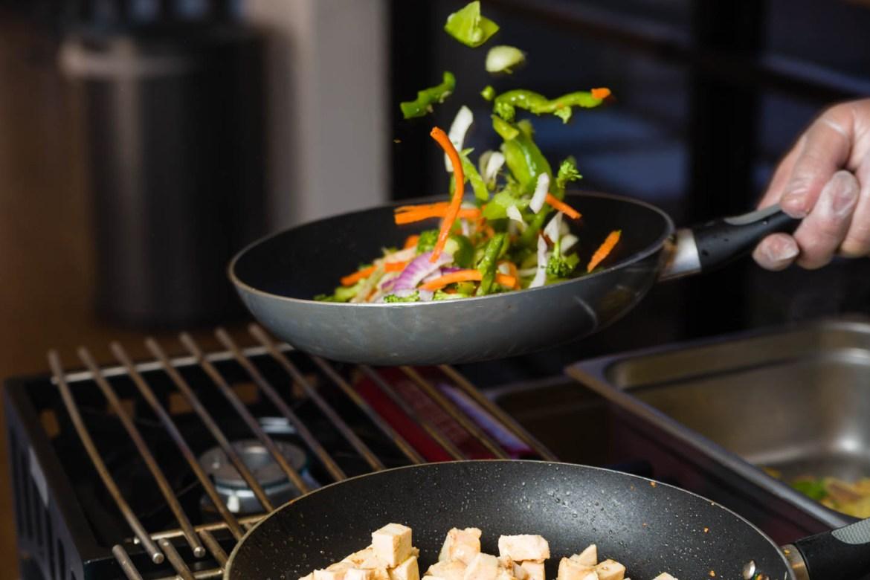 Making stir fry