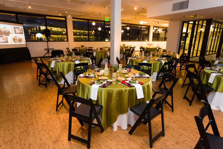 Tables are set at The Leonardo