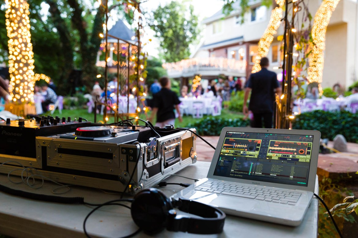 A view from DJ Lishus music booth