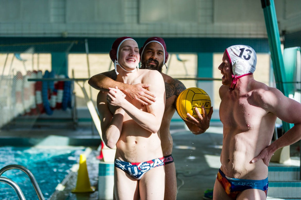 Water Polo players hanging out