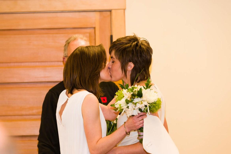 Bride's first kiss