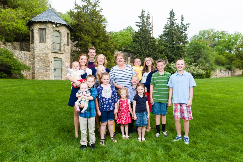 Grandma with all her grandkids