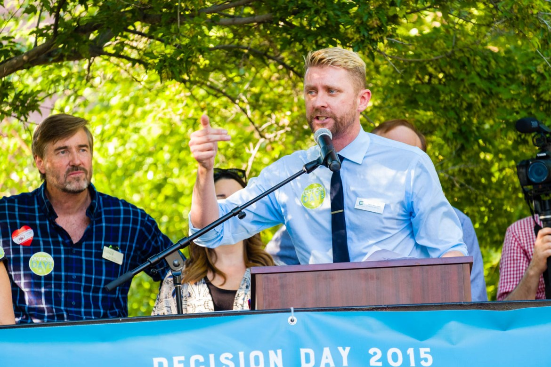 Troy Williams of Equality Utah speaks