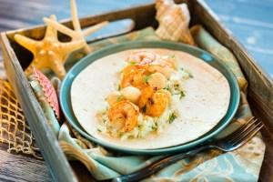 Baja seafood burrito