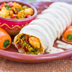 Seafood Paella Burrito