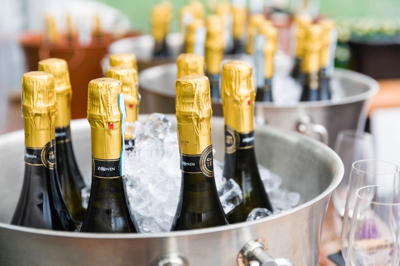 Champagne in bottles