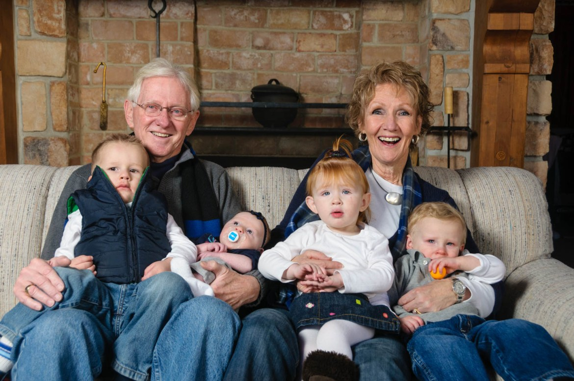 Grandma and Grandpa with grandkids