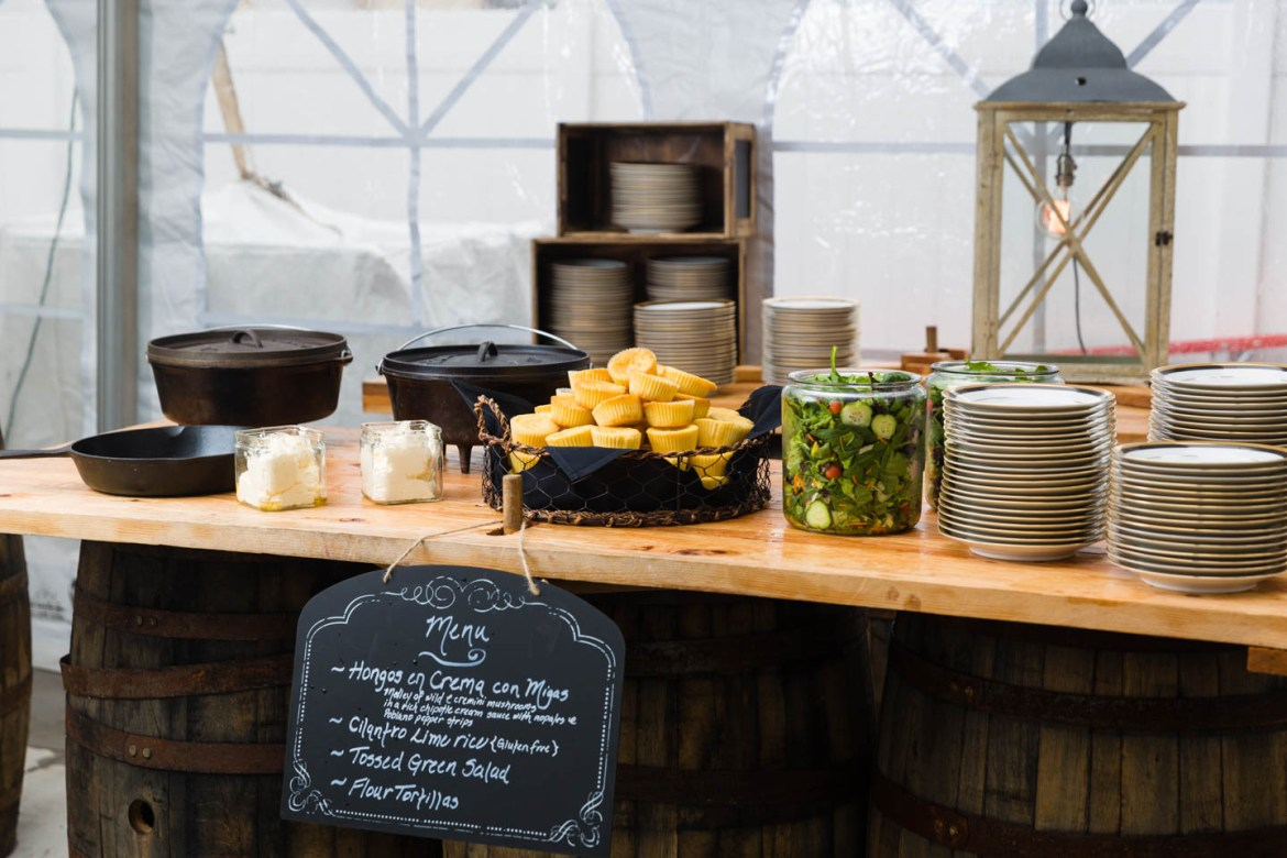 Le Croissant Catering set up a steampunk wedding