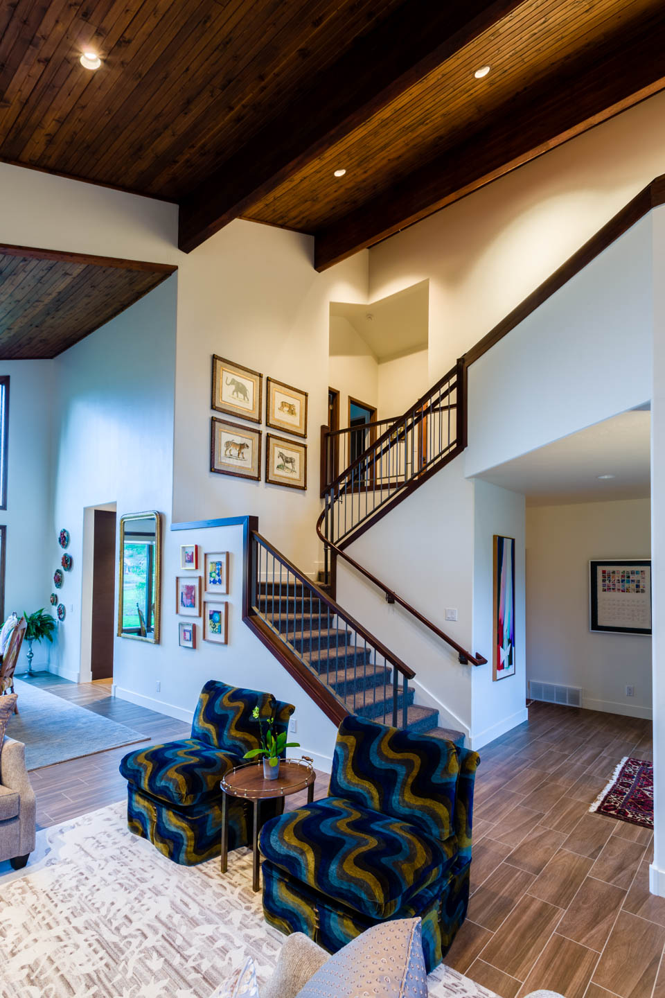 Interior Design   Architectural Photography in Park City   dav d     Main room and staircase