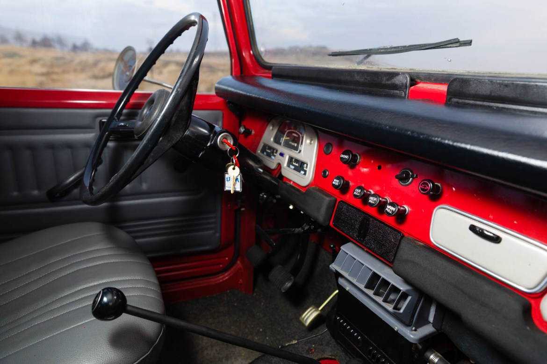 Interior of the Toyota Land Cruiser