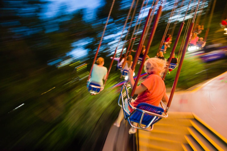 Riding the Swings at Lagoon