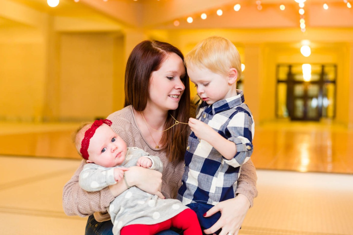 Mom with here 2 children